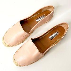 Halogen   Blush Pink Leather Espadrille Slides